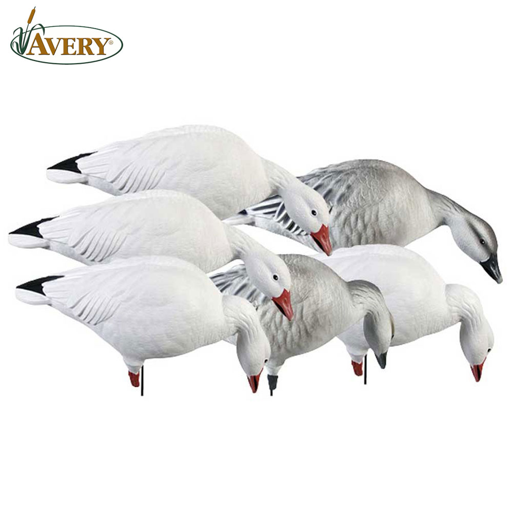 Avery GHG Pro Grade Full Body SnowsFeeder Decoys Pk6