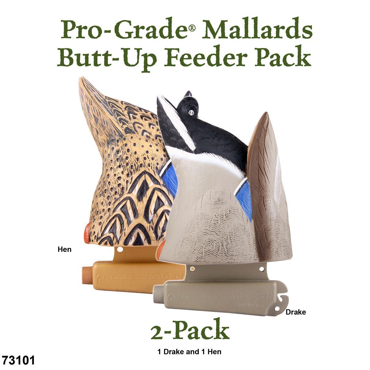 Avery GHG Pro Grade MallardsButt Up Feeder Decoys Pk2