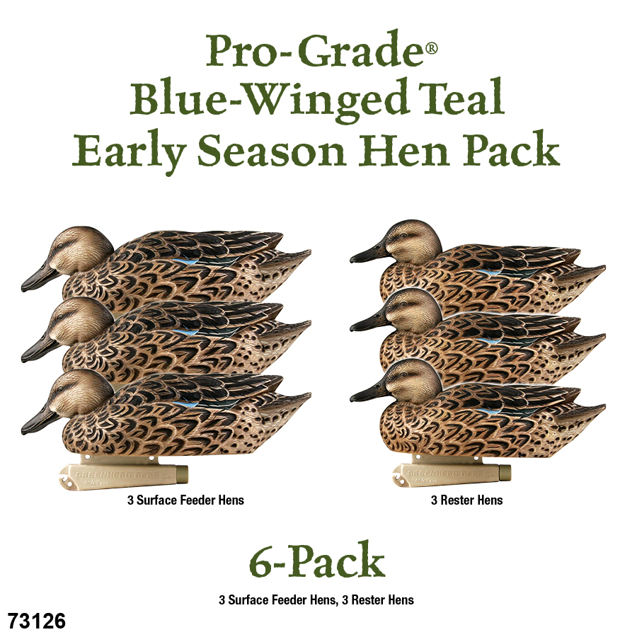 Avery GHG PG Blue-Winged Teal/Early Season Hen Decoy (Pk/6) thumbnail