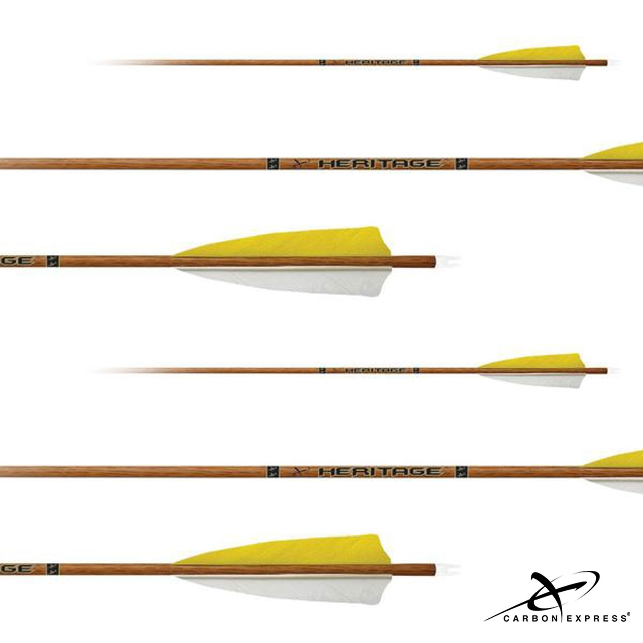Carbon Express Heritage Fletched Carbon 90 Arrows w/4″ Feathers (6PK)