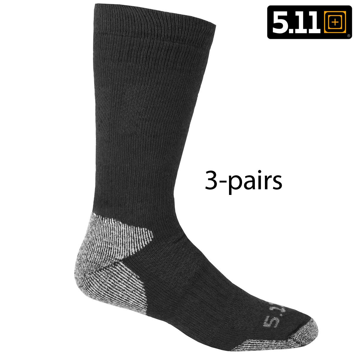 511 Tactical Cold Weather Crew Sock LXL BLK 3 PAIR