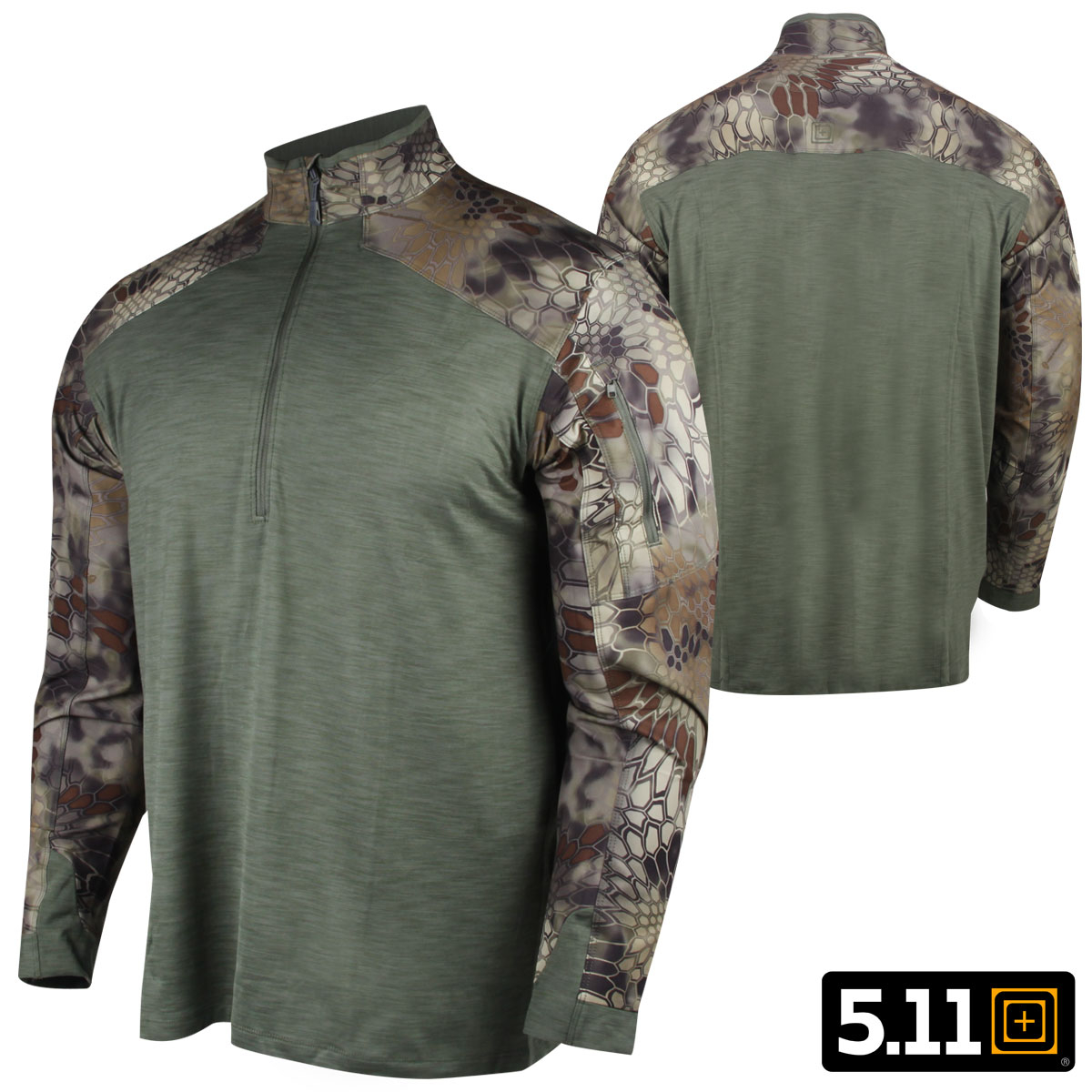 511 Tactical Kryptek Rapid Half Zip M Sage Green