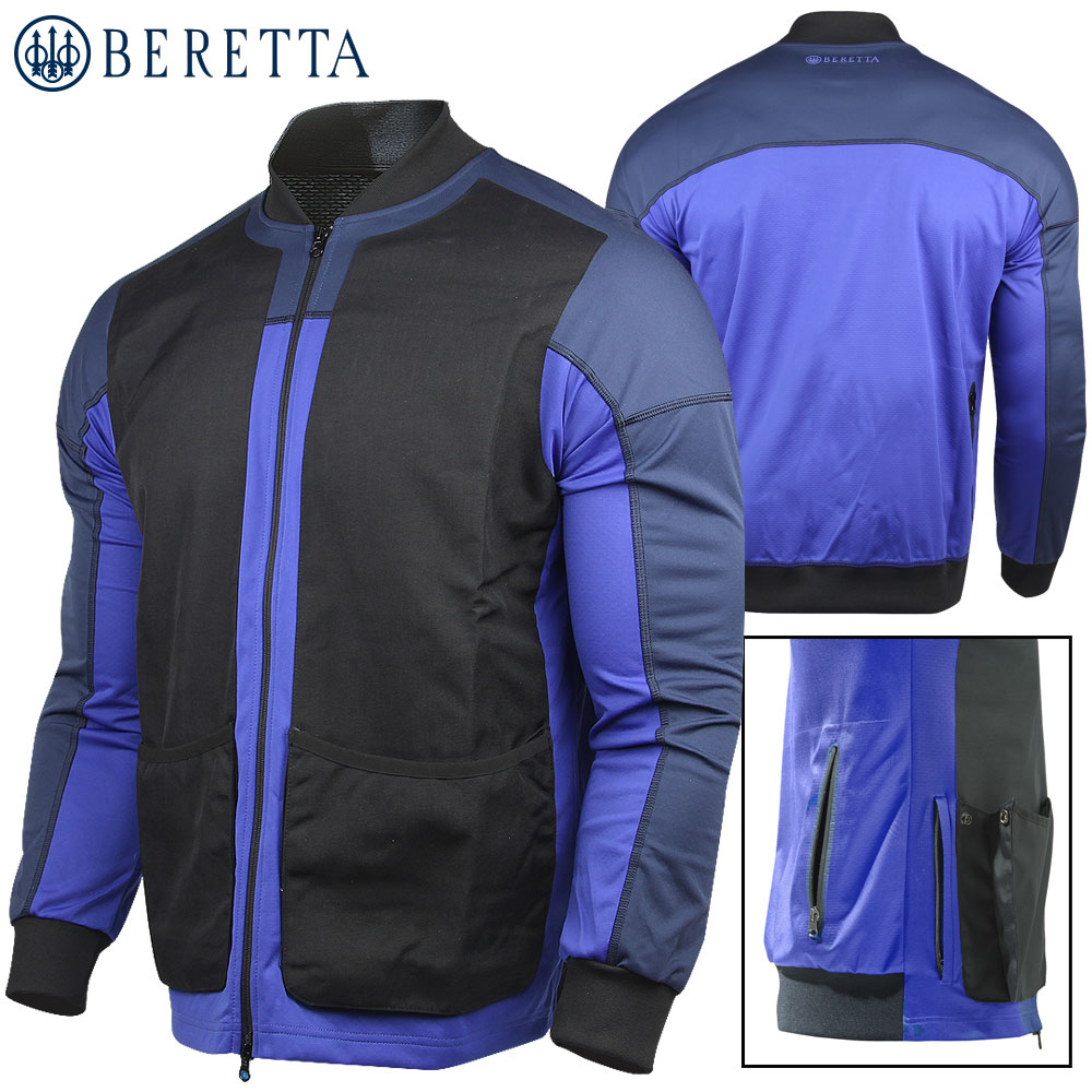 Beretta Shooting Bomber Full Zip M Blue Total Eclipse
