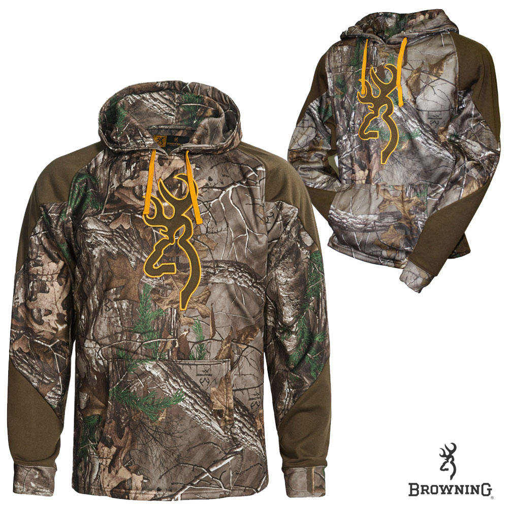 Browning Wasatch Two-Tone Performance Hoodie (M)- RTX