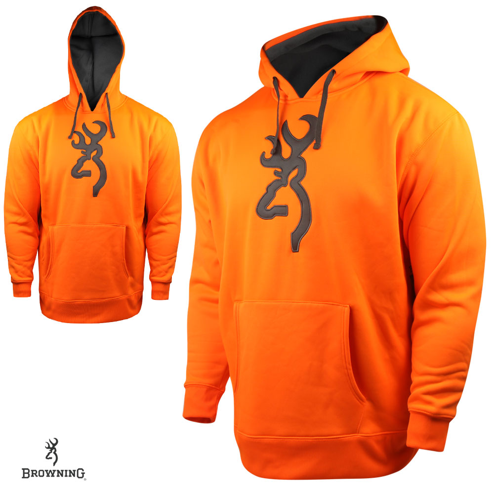 Browning Performance Fleece Hoodie (M)- Blaze/Charc