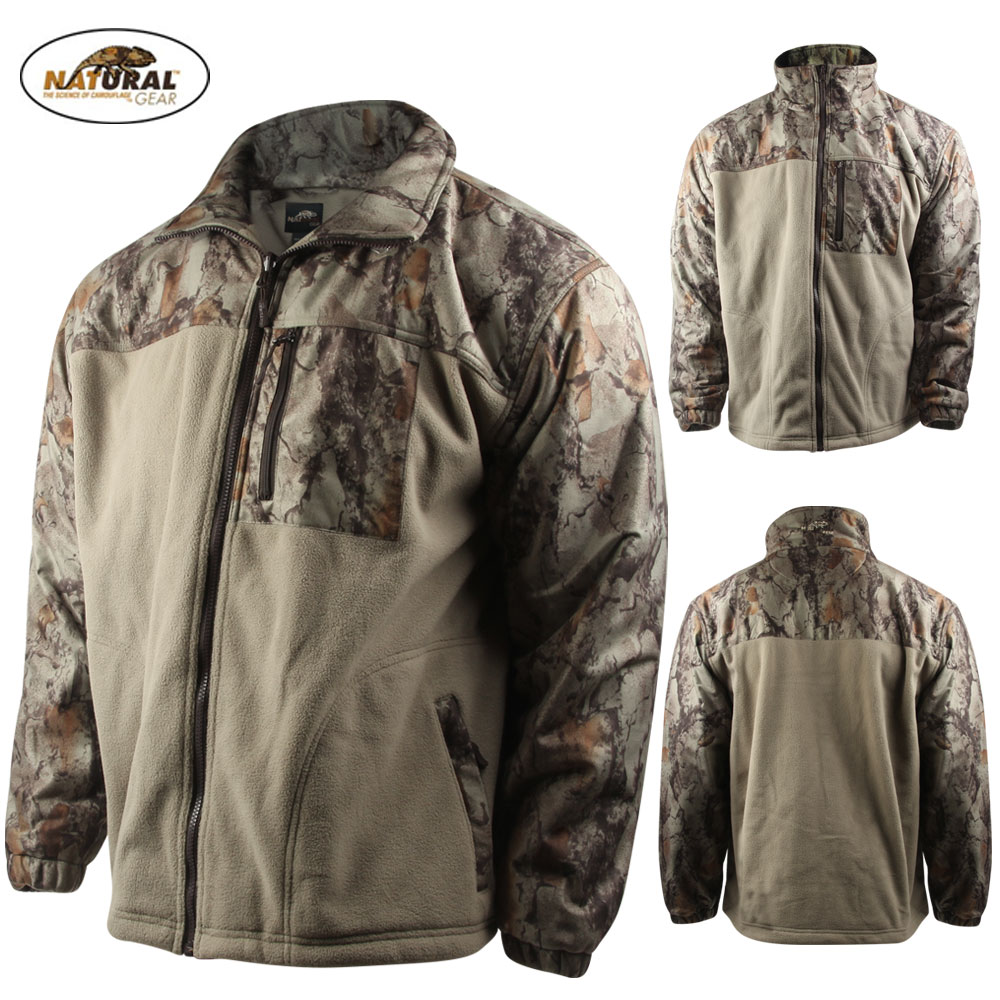 Natural Gear Hybrid Fleece Full Zip Jacket (M)- Nat. Camo