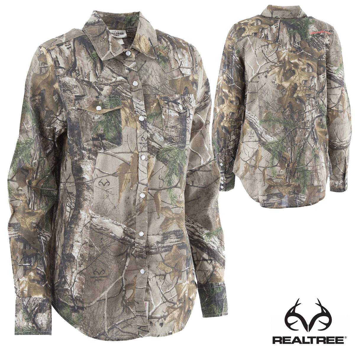 Realtree Girl Women's Button-up Shirt (L)- RTX