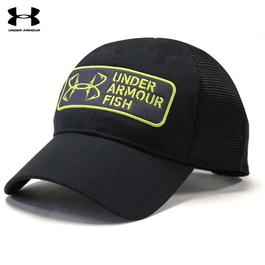 Under Armour CoolSwitch ArmourVent Patch Cap- Black