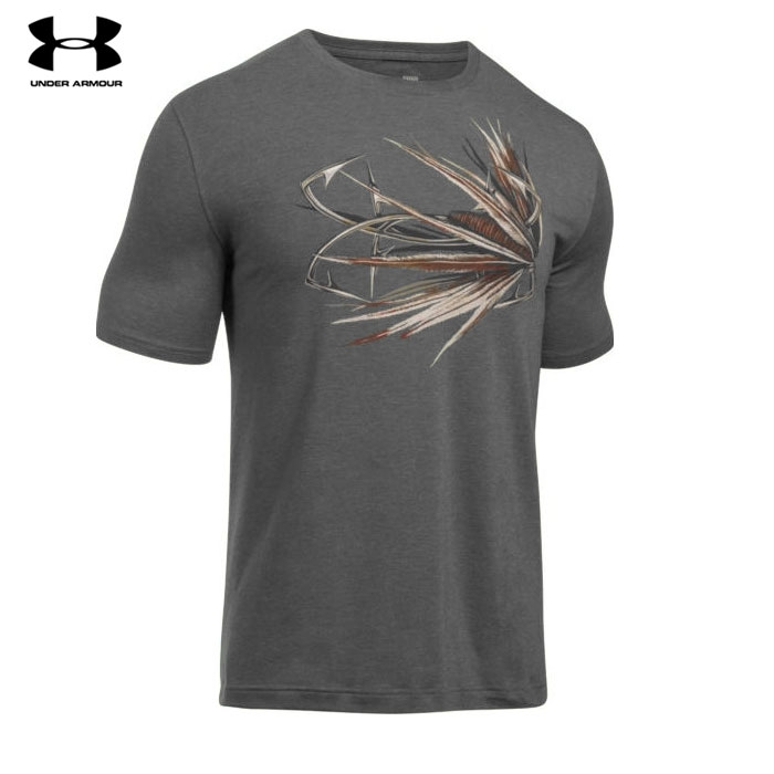 Under Armour Tied Fly Fishing T-Shirt (2X)- Carbon Heather