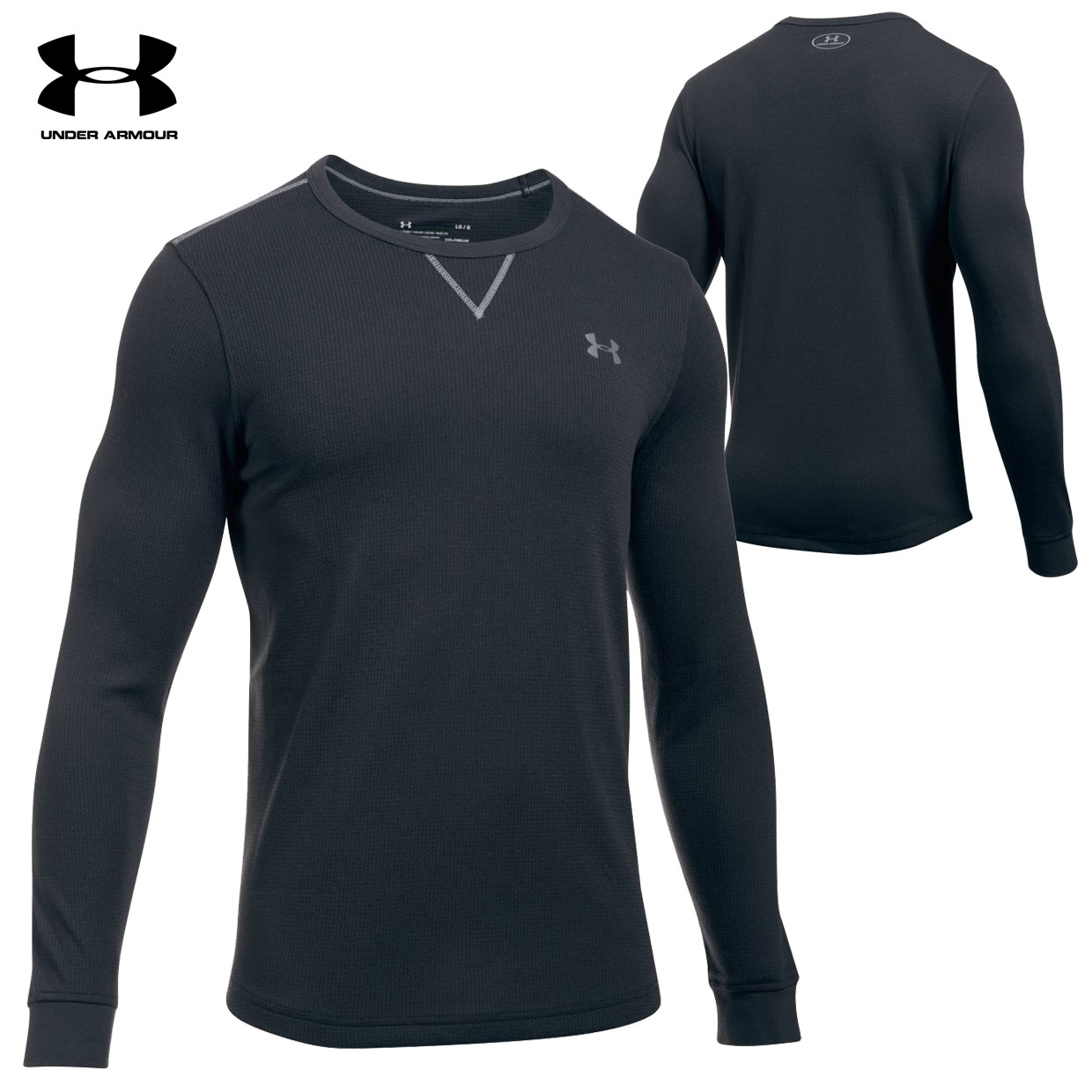 Under Armour Hunt Long-Sleeve Waffle Crew (3X)- Dk Navy Blue
