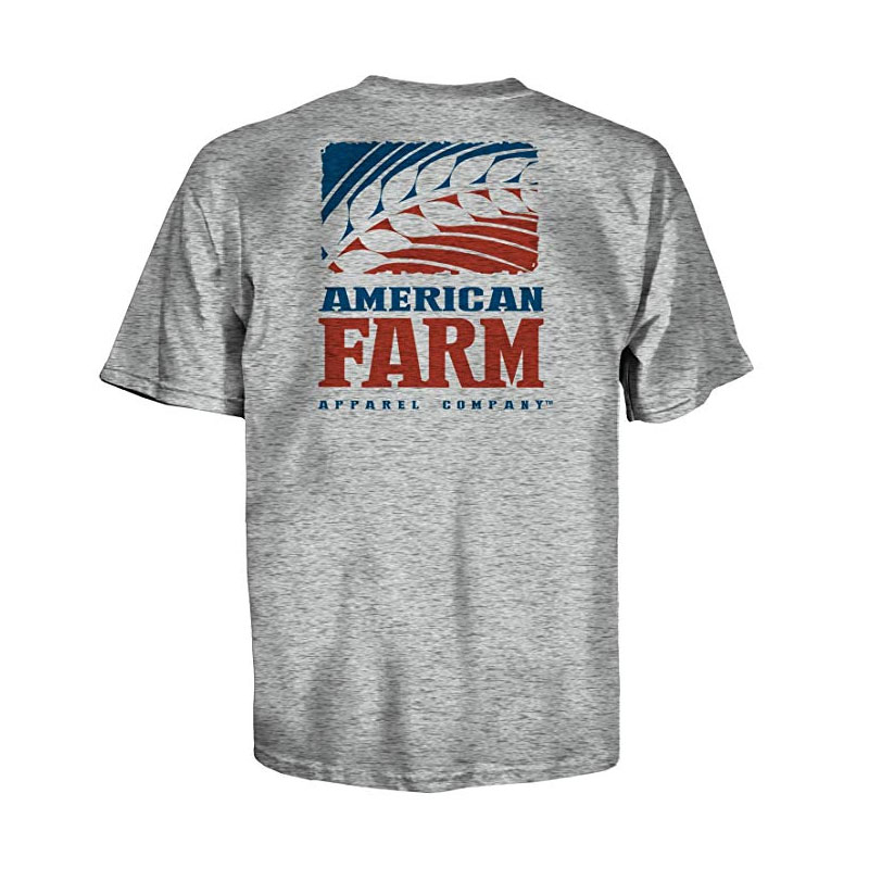 American Farm Apparel Company Logo T Shirt L Grey Heather