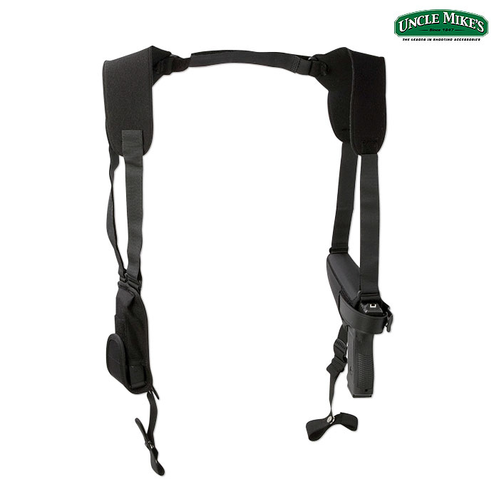 Uncle Mike's Pro-Pak Horizontal Shoulder Holster (02)- Black