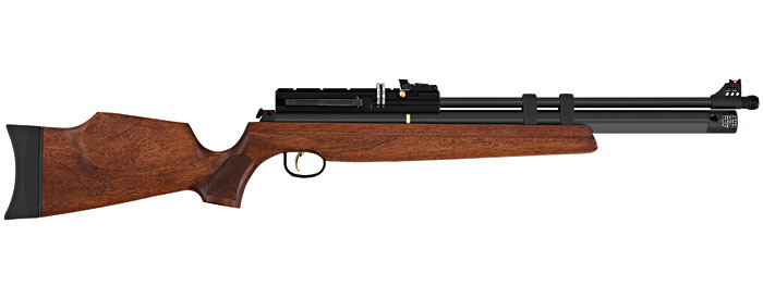 Hatsan AT44W-10 PCP Rifle (.25cal) - Walnut
