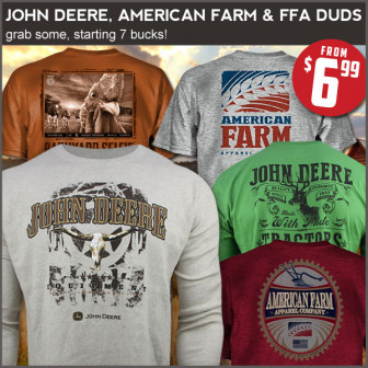 $6.99 tee party! American Farm graphic tees.
