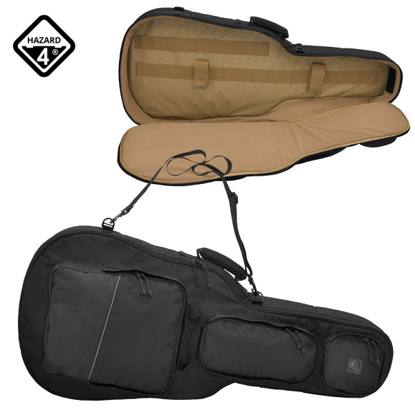 hazard 4 battleaxe guitar shaped padded rifle case field supply. Black Bedroom Furniture Sets. Home Design Ideas