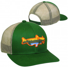Catfish Patch Meshback Cap- Dark Green/Khaki