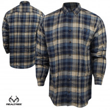 Deals on Realtree Flannel Plaid Button-Down Shirt
